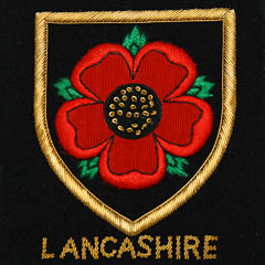 Lancashire Red Rose Wire Blazer Badge