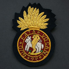 Northumberland Fusiliers Wire Blazer Badge