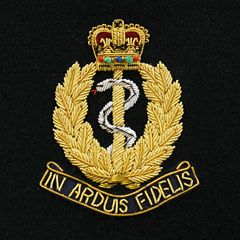 Royal Army Medical Corps Latin Motto Wire Blazer Badge