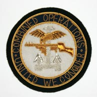 Combined Operations wire blazer badge