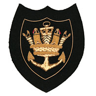 Merchant Navy Crown and Anchor wire blazer badge