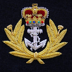 Royal Navy Wire Blazer Badge