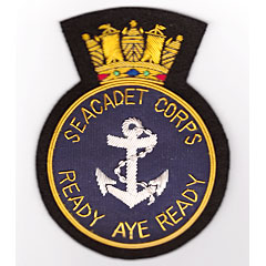 Royal Navy Sea Cadet Corps Reserve wire blazer badge