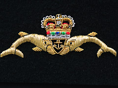 Submariners Wire Blazer Badge - Dolphins