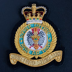 Royal Air Force Bomber Command Wire Blazer Badge