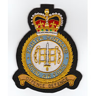 Royal Air Force Fighter Command Wire Blazer Badge