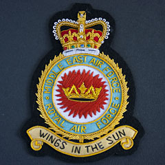RAF Middle East Air Force Wire Blazer Badge