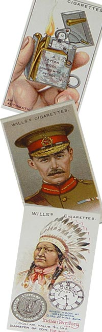 Montage of Wills Cigarette Cards