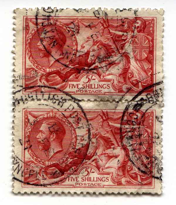 5 Shilling red