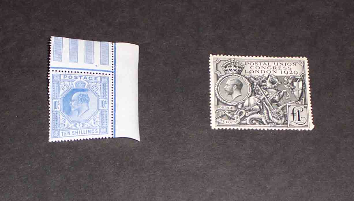 Ten Shilling Blue and PUC One Pound