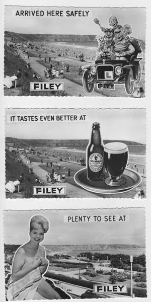 1960's Filey advertising postcard collection 1-3