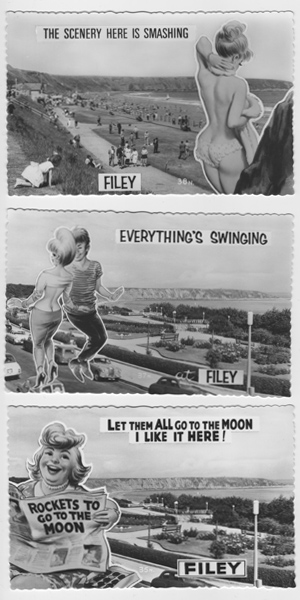1960's Filey advertising postcard collection 4-6