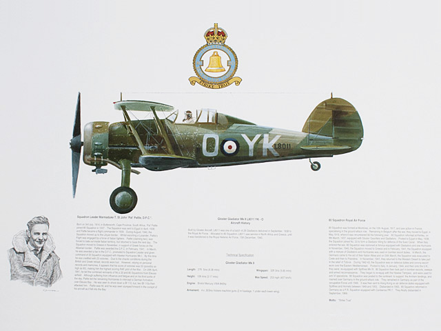 Gloster Gladiator of 80 Squadron Print