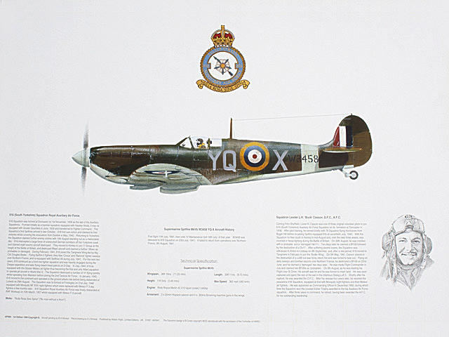 Spitfire of 616 Squadron Print