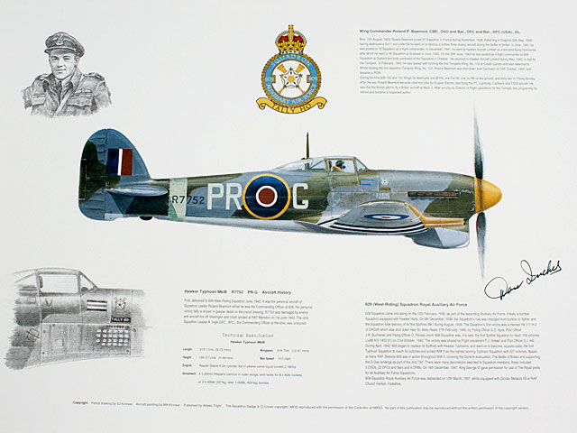 Hawker Typhoon of 609 Squadron Print