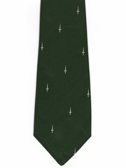 42 Commando Royal Marines - White Dagger logo Tie