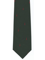 45 Commando Royal Marines Red Dagger Logo tie