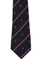 Royal Navy Anchor and Striped Tie