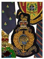 Royal Marines and Marine Commando badges and ties